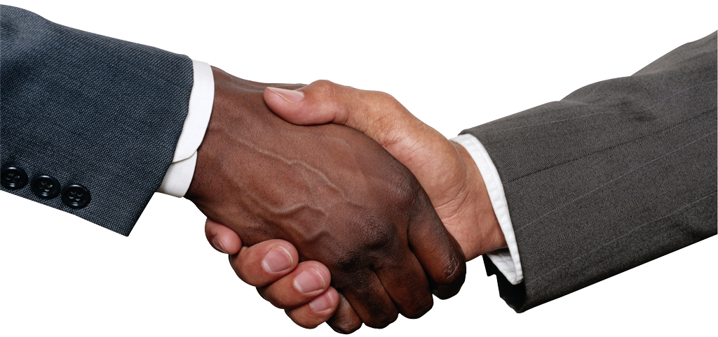 Pin Two Men Shaking Hands Over A Business Deal Royalty ...